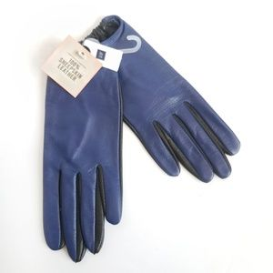 Gap NWT 100% Leather Two-Tone Gloves